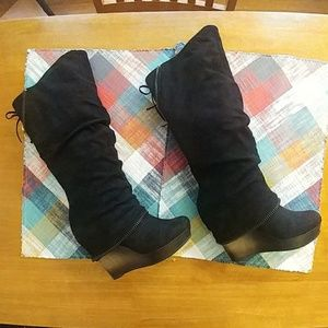Women's Tall Black boots, Size 7.5